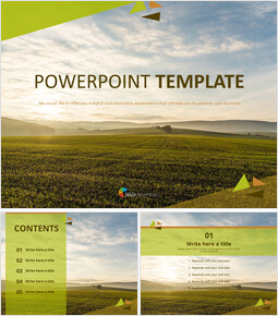 PowerPoint Templates Free Download - Sunset Field_00