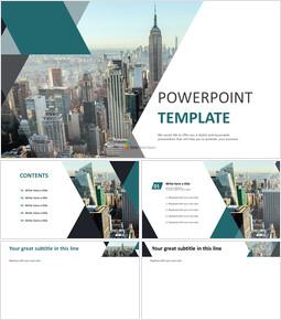 PPT 디자인 무료 - 현대 도시 풍경_00