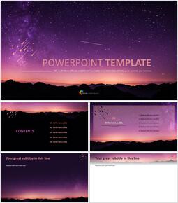 PPT Design Free - Starry Night Sky_00