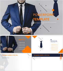 PPT Design Free Download - A man with a Suit_6 slides