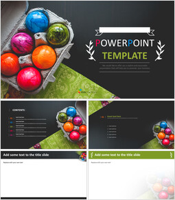 PPT Templates Free Download - Colorful Easter Day Eggs_00
