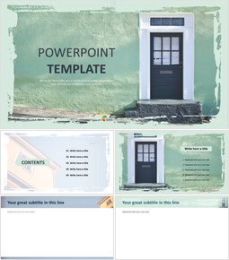 simple Architecture - ppt Template Free_6 slides