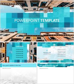 도시의 하늘 - 무료 PowerPoint 템플릿_00