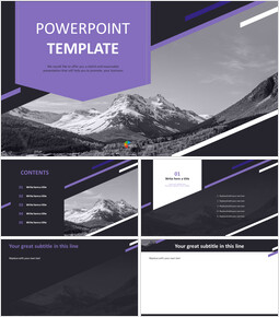The Alps in Black and White - Free Presentation Templates_00