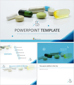 Various Pills - PowerPoint Template Free Download_00