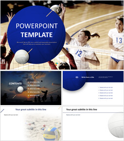 Woman Volleyball - PPT Design Free_00