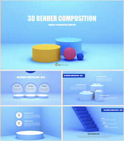 3D Render Composition PPT Keynote_00