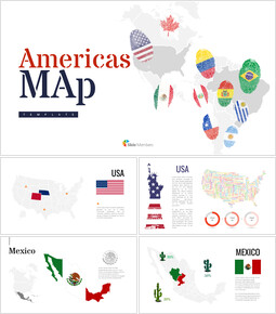 America Map Simple Slides Design_00