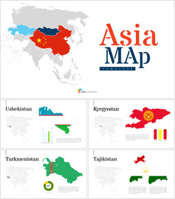 Asia Map Simple Presentation Google Slides Template_00