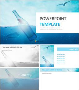 Bottle Floating in Ocean - Free Google Slides Template Design_00