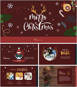 Christmas Illustration Keynote Examples_00