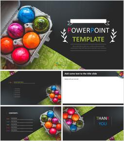다채로운 부활절 날 계란 - 무료 Google 슬라이드 템플릿_00