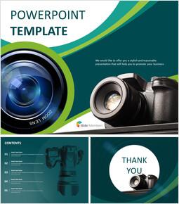 디지털 카메라 - 무료 구글 슬라이드 템플릿 디자인_00