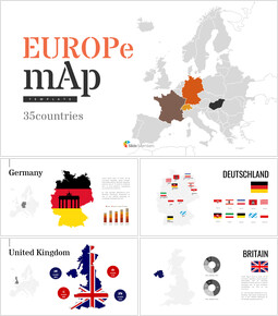 Europe Map (35countries) Simple Presentation Google Slides Template_00