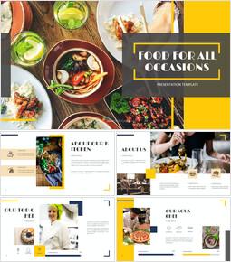 다양한 요리 (요식업) Google 프레젠테이션 템플릿_00