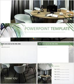 Free Google Slides - Simple Meeting Room_6 slides
