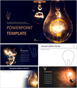 Free Google Slides Backgrounds - Lightbulb Brightening Dark_00