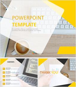 무료 Google 슬라이드 배경 - 커피 작업_00