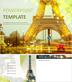 Free Google Slides Template - The Eiffel Tower_00