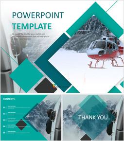 무료 구글 슬라이드 템플릿 디자인 - 스노우 마운틴 구조 헬리콥터_00