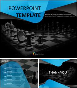 구글슬라이드용 무료 이미지 - 어두운 분위기의 체스 판_00