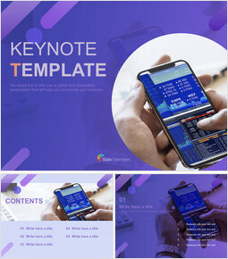 Free Keynote Template - Mobile Stock Chart_00