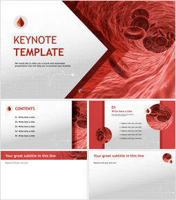 Free Keynote Template Download - Blood and Red Blood Cells_00