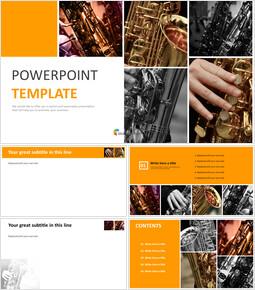 Modèle de présentation gratuit - Saxophone_6 slides