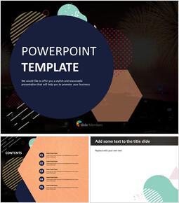 Free Professional Google Slides Templates - Firework and Illust_00