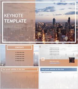 Free Professional Keynote Templates - City Light_00