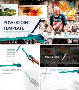 Google Slides Template Free - Painter_00