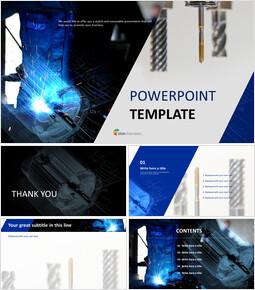 Google 슬라이드 템플릿 무료 다운로드 - 기계 용접_00