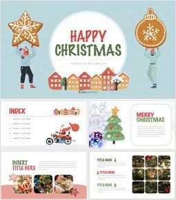 Happy Christmas Theme Keynote Design_00