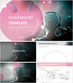 Headset Music - Free Google Slides Template Design_00