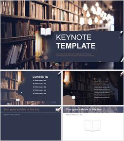 Library - Free Presentation Template_6 slides