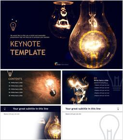 Lightbulb Brightening Dark - Free Keynote Template Design_00