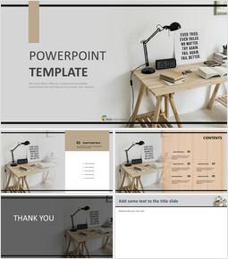Neat Wood Interior - Free Presentation Templates_6 slides
