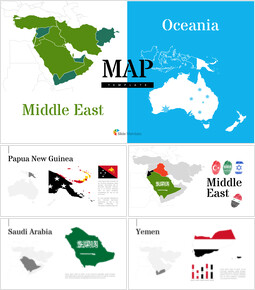 Oceania & Middle East Map Google PowerPoint Presentation_00