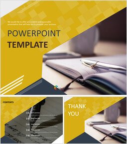 Pen and Diary - Free Presentation Templates_00