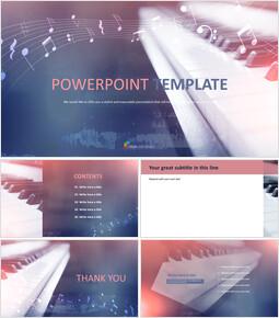 피아노 - 무료 Google 슬라이드 템플릿 디자인_00