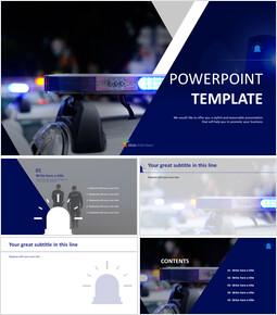 Police Car - Free Google Slides themes_00