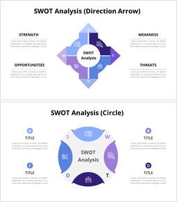 보라색 SWOT 분석 다이어그램_00