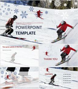 스키 - Google 슬라이드 템플릿 무료 다운로드_00