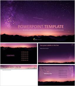 Starry Night Sky - Google Slides Template Free_00