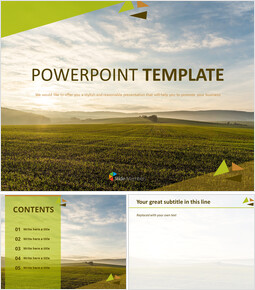 Sunset Field - Google Slides Templates Free Download_00