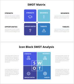SWOT Grid Analysis Diagram_14 slides
