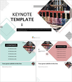 Various Manicures - Keynote Template Free_00