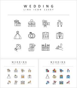 Wedding Flat Design Icons_00