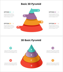 3D円錐ピラミッドチャート図_12 slides