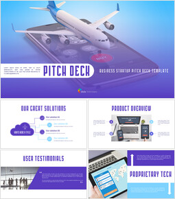 Airline APP Startup Pitch Deck Animated Simple Templates_00